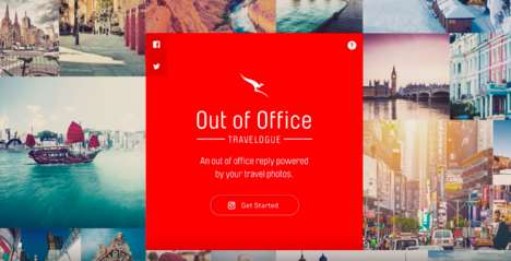 Wanderlust Email Apps - Qantas is Changing Out-of-Office Emails from Boring to Travel-Inspiring