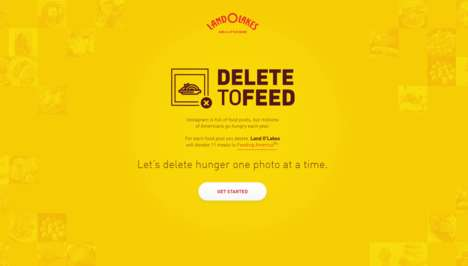 Anti-Social Media Hunger Campaigns - The Delete to Feed Campaign Encourages Offline Interactions