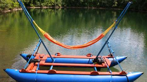 Solar-Powered Hammock Boats - The 'MelloShip' Introduces a Relaxing New Way to Enjoy the Water