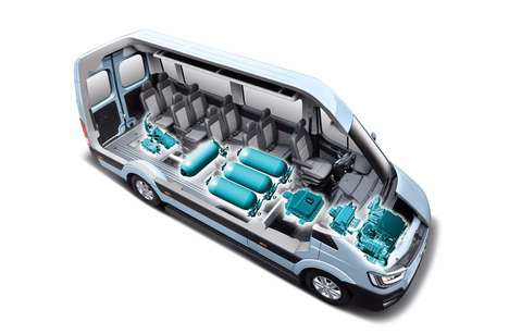 Fuel Cell Concept Vans - The Hyundai H350 Fuel Cell Concept Van Offers Ultra-High Range