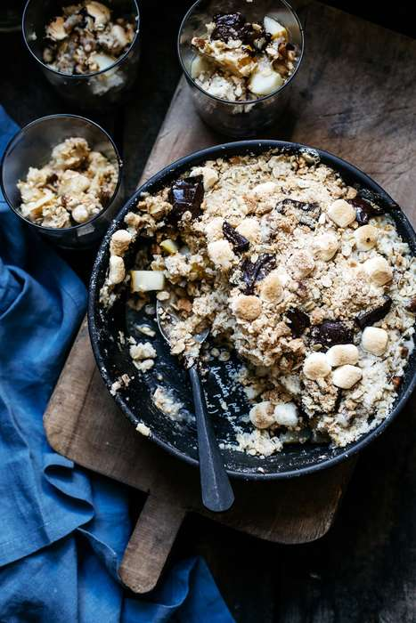 Fruity Campfire Pies - This S'mores and Pear Crumble Combines Seasonal Fruit and a Bonfire Treat