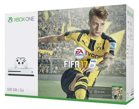 Compact Console Gaming Bundles - The Xbox One S FIFA 17 Bundle Deal Packs Hardware and Software