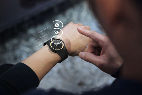 Touchscreen E-Ink Smartwatches - The Nytec 'Axiom' Smartwatch Device Blends Analog with Digital
