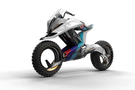 Autonomous Motorcycle Designs - The BMW Motorrad Concept Z Can Drive without Driver Intervention