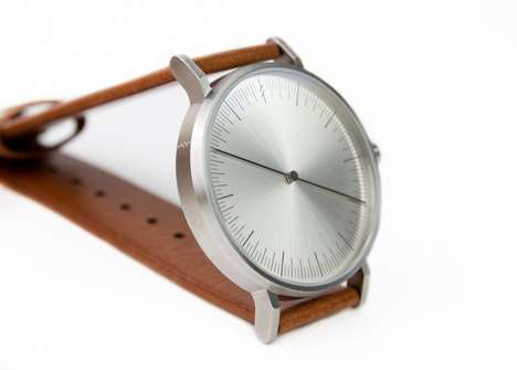 Single-Handed Wristwatches - The Minimalist 'Simpl One' Watch has Only One Hand and No Numbers