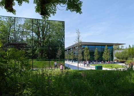 Mirrored Technology Labs - The New Dyson Campus is Covered in Giant Mirrors