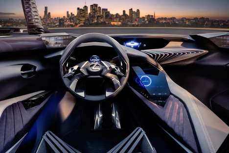 Holographic Vehicle Displays - The Lexus UX Concept Previews the Future of Vehicle Interiors