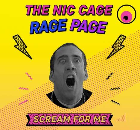 Actor Freak Out Meters - The 'Nic Cage Rage Page' Invites Users to Try and Match the Actor's Scream