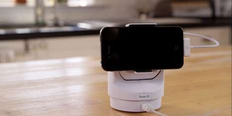 Swiveling Smartphone Security Cameras - Presence 360 Turns Old Smartphones into Security Monitors