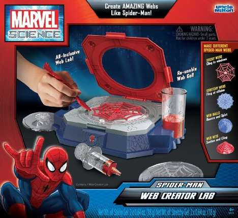 Superhero Science Kits - The Spider-Man Web Creator Lab Lets Kids Create Their Own Spider Webs