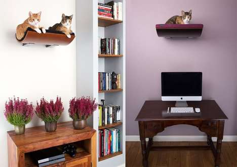 Contemporary Cat Perches - This Cat Shelf Bed from CosyAndDozy Keeps Cats Comfy and Out of the Way