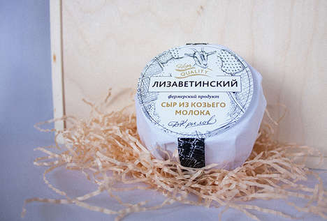 Process-Focused Cheese Packaging - Lizavetinsky Goat Cheese is a Farm Product with Artisanal Roots