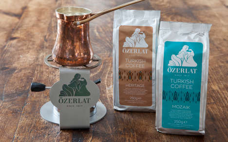 Artisanal Turkish Coffee Packaging - Özerlat Turkish Coffee Blends are Crafted Using Arabica Beans