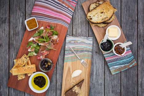 Painted Tapas Boards - Sarmarie Designs' Boards are Made from Solid Lengths of Wood