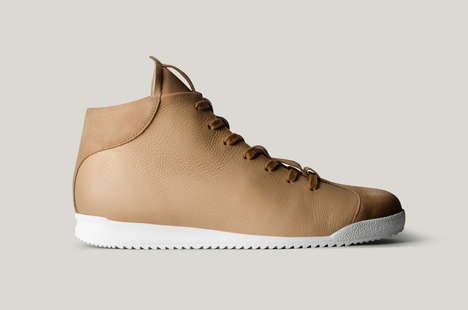 Sand-Hued Sneakers - These Mid-Top Sneakers Offers Spectacular Style and Comfort