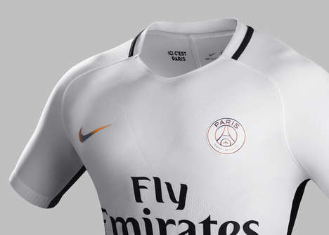Sparkling Soccer Apparel - This New PSG Jersey is Designed to Shine Under Stadium Floodlights