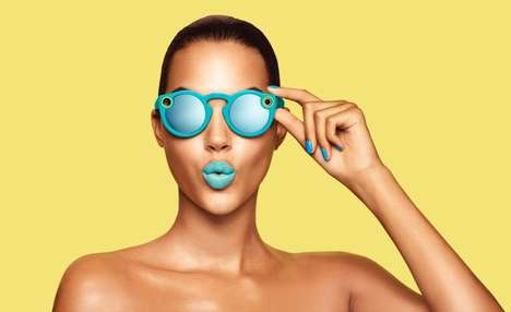 Chromatic Social Media Sunglasses - The Snapchat Spectacles Enable POV Phone-Free Recording