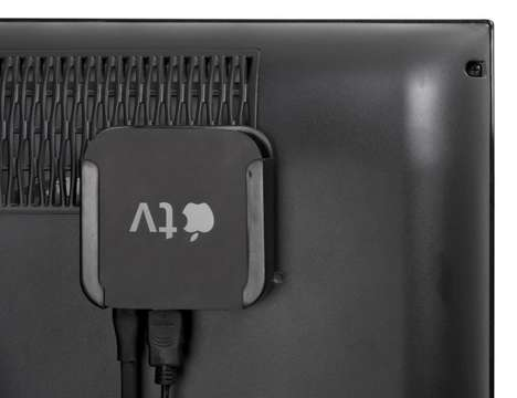 Discreet Streaming Box Docks - The 'TotalMount' Apple TV Mount Tool Hides the Device Behind the Set