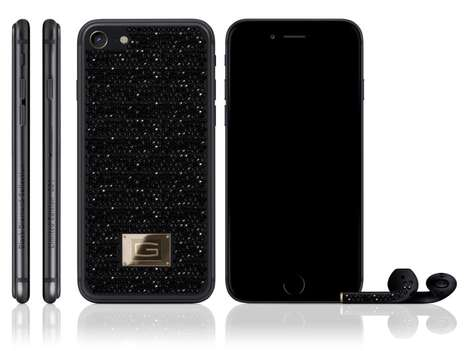 Diamond-Encrusted Smartphones - The Gresso Black Diamond iPhone 7 Retails for $500,000