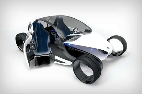 Ergonomic Seating Vehicles - The 'E-legance' Personal Automobile Makes it Easy to Get In and Out