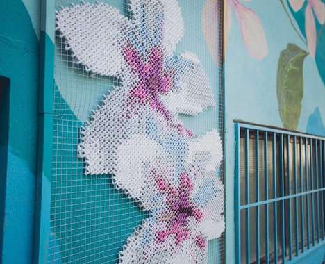 Cross-Stitched Murals
