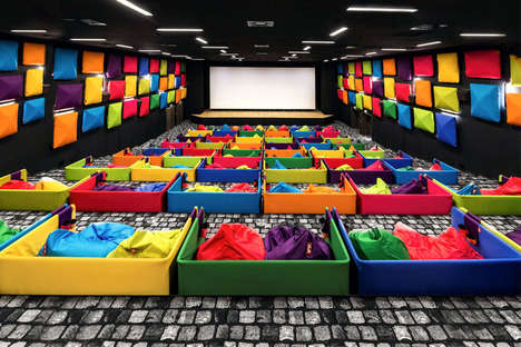 Bright Beanbag Cinemas - Michal Stasko's Theater Design is Filled with Beanbag Chairs for Seating