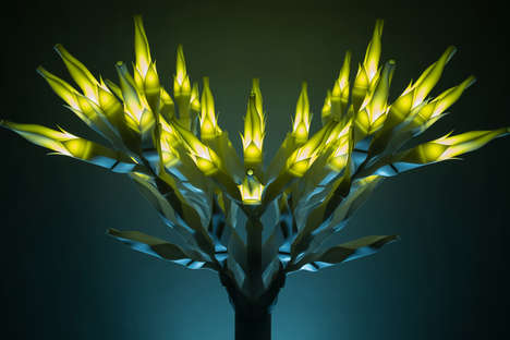 Arboreal Lighting Sculptures - Se Yoon Park's 'Light, Darkness, and the Tree' Uses Digital Crafting