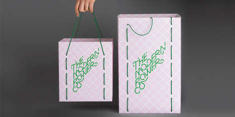 Trellis-Inspired Florist Packaging - The Modern Flower Co. Branding is Geometrically Modern