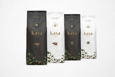 Natural Plant Coffee Packaging - Kava Premium Coffee Focuses on Bean Origin and Growth