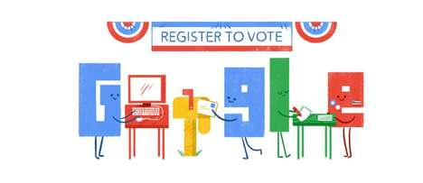 Voter Registration Graphics - Google's Doodle Helps Voters on National Voter Registration Day