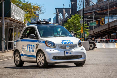 Compact Police Cars - The New York Police Department Received a Fleet of Smart Fortwos