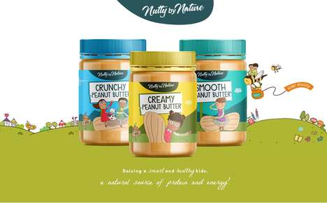 Youthful Peanut Butter Packaging - These Peanut Butter Jars Were Designed to Appeal to Children