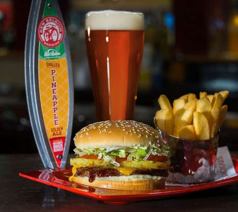 Burger-Flavored Beers - Red Robin's 'Grilled Pineapple Golden Ale' Tastes Like Its Banzai Burger