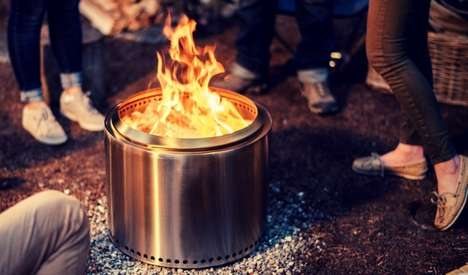 Minimalist Steel Fire Pits - This Fire Pit Was Designed to Create a Unique Backyard Fire Experience