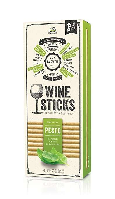 Wine-Paired Breadsticks - The Pairwell Pesto Wine Sticks Feature Herbs That Match to Alcohol Aromas