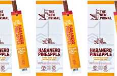 The Primal Habanero Pineapple Beef Sticks Mix Tropical Fruit and Spicy Tastes