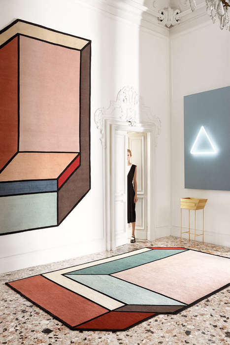 Expansive Abstract Carpets - The 'Visioni' Geometric Rugs by Patricia Urquiola are Modern and Chic