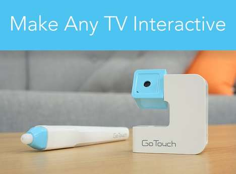 Touchscreen-Enabling Devices - The 'GoTouch' System Creates an Interactive Whiteboard on Any TV