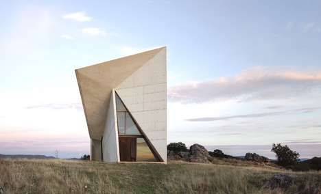 Abstractly Angled Apses - 'Chapel in Valleaceron' has a Uniquely Geometrical Layout