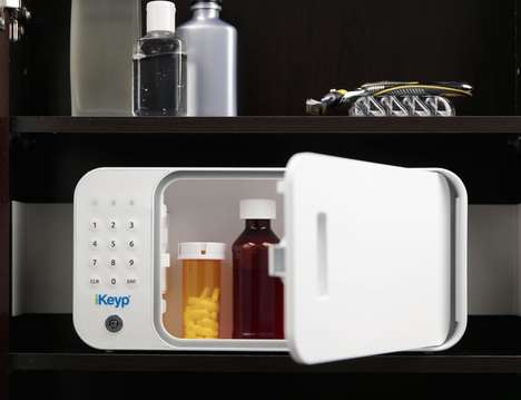 Connected Medication Safes - The 'iKeyp' Personal Safe Keeps Prescriptions and Valuables Protected