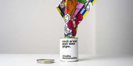 Graphic Canned Scarves - These Scarf Packages Fuse Style With Function