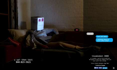 Branded Insomnia Chat Bots - Casper Mattress' 'Insomnobot-3000' Helps People who Can't Sleep