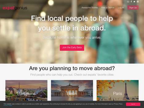 Expat Online Marketplaces - 'ExpatGenius' Connects Users to Other Expats and Local People