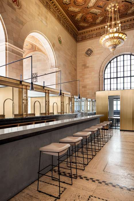 Redesigned Bank Collectives - The Crew Offices and Cafe Renovated Montreal's Historic Royal Bank