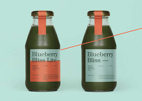 Enriched Bottled Tea Branding - Min's Matcha Juice Tea Blends Tea with Scrumptious Ingredients