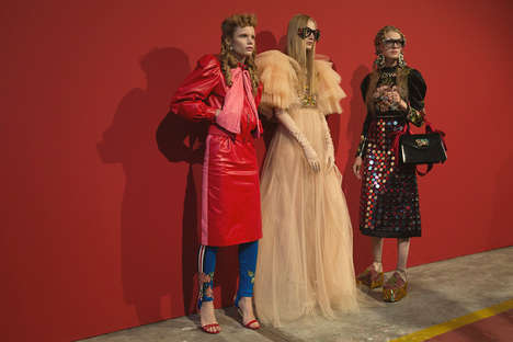 Outlandish Women's Couture - The Women's Gucci Spring Line Flaunted Whimsical Vintage Styles