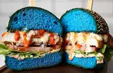 Bright Blue Burgers - This X-Men-Themed Burger in Australia Features Unusual Blue Burger Buns