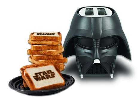 Galactic Printing Toasters - This Villain-Mimicking Star Wars Toaster Prints the Movie Logo on Bread
