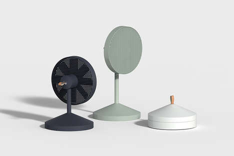Collapsible Designer Fans - The 'Conbox' Electric Fans Provide Portable Cooling That's Chic