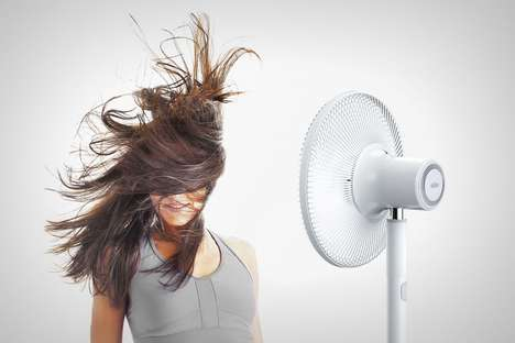Portable Cordless Fans - This Conceptual Braun Standing Fan Can be Moved Anywhere in the Home